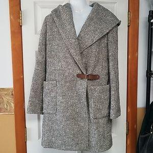 Lauren Ralph Lauren wool blend Walker hooded Coat